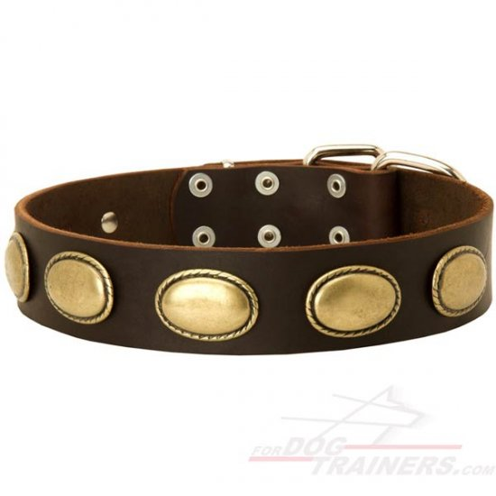 Retro Style Vintage Dog Leather Collar