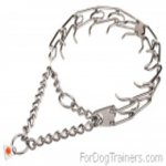 Comfortable Stainless Steel Pinch Collar with 3.25mm (1/8 inch) prong diameter