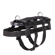 """Smart Duty"" Adjustable Nylon Dog Harness for Military and Police Work"