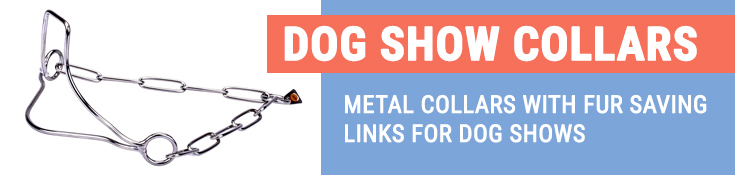 Metal Collars with Fur Saving Links for Dog Shows