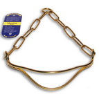 Brass Dog Show Collar with Head Handler - 1/9 inch (3 mm)