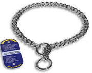 Choke Dog Collar of Chrome Plated Steel - 1/9 inch (3.00 mm)