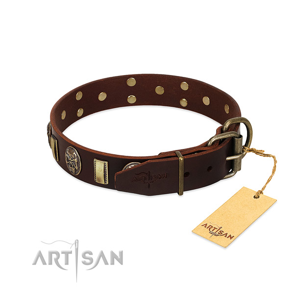 Selected Leather Dog Collar with Strong Hardware