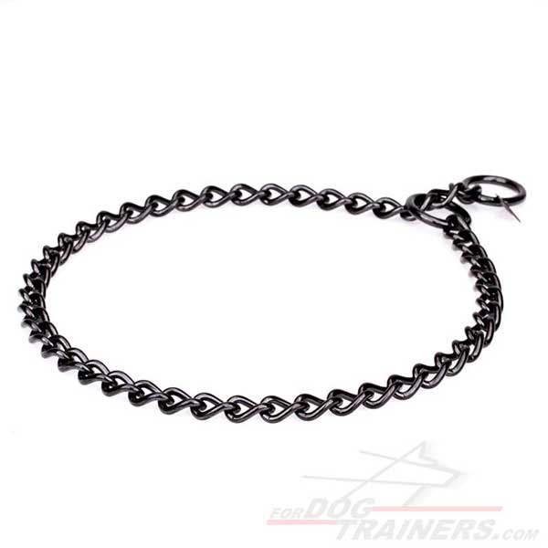Black Stainless Steel Collar for Dog Fur Protection