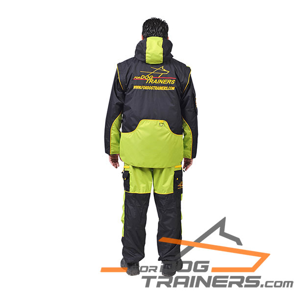 Waterproof Dog Training Bite Suit with Hood